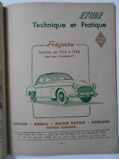 ► REVUE TECHNIQUE - RENAULT FREGATE 1956 // 1958 + VESPA 400 - 1958