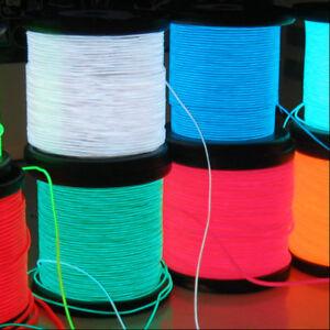1M Stripe LED luminoso El Wire semi rigido con controller per formare figure