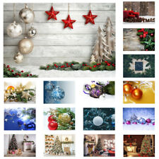 Christmas Decor Background Cloth Studio Photography Backdrop Xmas Tree Snow