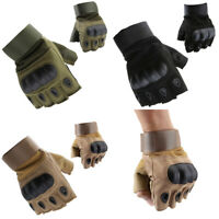 Tactical Motorcycle Hunt Hard Knuckle Half Finger Gloves Outdoor Army Military