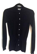 JUNYA WATANABE Comme Des Garcons M Black Knit Sweater Button Cardigan Cute Japan