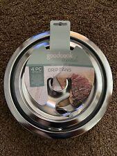 Goodcook Essentials Chrome Drip Pans 4 Pc Style-A