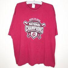 Carolina Gamecocks USC NCAA 2011 Championship Baseball T-Shirt 2XL Mens