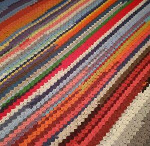 "Crochet  Afghan 63"" × 63"" Square Throw Blanket Mid Century Boho Diagonal Rainbow"