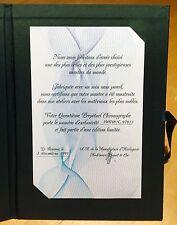 AUDEMARS PIGUET Certificate Limited Edition QUANTIEME PERPETUAL CHRONOGRAPH OEM
