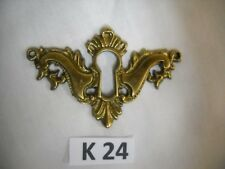 ANTIQUE CAST BRASS KEY HOLE COVER VICTORIAN