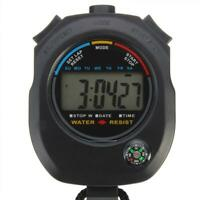 Digital Handheld Sport Stoppuhr Stoppuhr Timer Alarm EST Neu Zähler L7U3