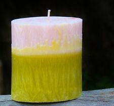90hr PINEAPPLE, COCONUT & MANGO Fruity Scent OVAL CANDLE Free Shipping / Postage