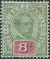 Malaysia Sarawak 1888 SG14 8c green and red Brooke MLH