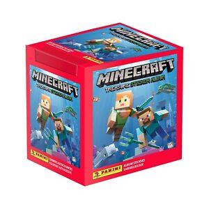 Panini Minecraft Treasure Sticker Box of 50 Packs Stickers CDU