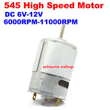 DC 6V-12V 11000RPM High Speed RS-545 DC Motor DIY Electric Drill Car Boat Model