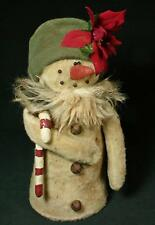 Rags A. Muffin Primitive Snow Lady with Fur Scarf And Candy Cane