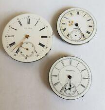 2 Hampden 1 Longines Antique Pocket watch movements #06-2219