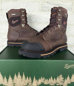 "Danner Mens 8"" Trakwelt Waterproof Work Boots Size 12 Brown 13241 $180 Plain Toe"