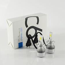 Pair H7 COB 72W C6 LED Headlight Bulb Conversion Kit 8000lm 6500K White Driving