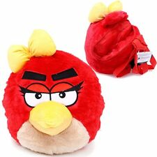 "2016 Angry Bird Pig Girls Plush 14"" Backpack Toy Plush Bag  Red Color USA SHIP"