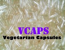 """NEW !!!!!  VCAPS 1000 Clear Size """"0"""" Empty Vegetarian Capsules (HPMC) No Gelatin"""
