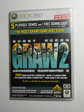 XBOX OFFICIAL MAGAZINE XBOX360 GAME DEMO DISC W/CASE GHOST RECON GRAW 2 + 5 MORE