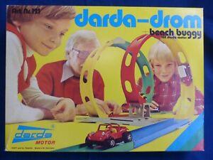 darda-drom + 2 Beach Buggy Vollständig Darda Vintage Rennbahn Aufziehautos