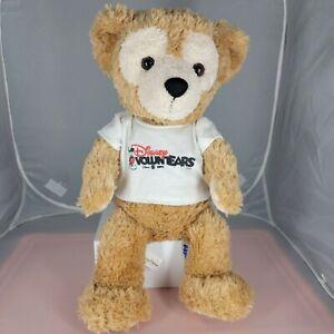 "Duffy Disney Parks Hidden Mickey Bear 17"" Plush Stuffed Toy Tan Soft Voluntears"