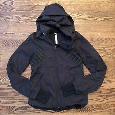 Lululemon Run Hustle Jacket Black Reflective Stripe Size 4