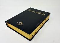 """BIBLIA LETRA SUPER GIGANTE PIEL INDEX NEGRO """"SU NOMBRE GRABADO"""""""