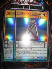 YU-GI-OH! SUPER RARE MONOLITHE QLIPHORT PLAYSET (LOT DE 2) PEVO-FR058 NEUF MINT