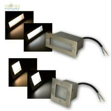 LED Built-In Square/Rectangle Stair Lamp Luminaire Stainless Steel