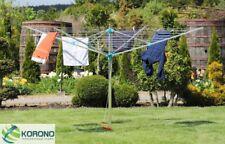 Wäschespinne Wäscheständer Aluminium mit Abdeckung und Eindrehdübel 2x2m L 60 m