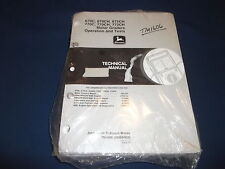 JOHN DEERE 670C 670CH 672CH 770C 77 TECHNICAL SERVICE SHOP OP TEST MANUAL TM1606