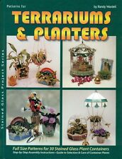 Terrariums and Planters Stained Glass Pattern Book, Vases, Frame, Flower Pots