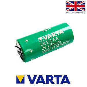 Varta CR14335 / CR2/3AA 3V 1350mAh 2 Pin PLC Battery: Alarm Controller Backup