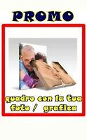 Stampa Su Tela Personalizzata 40x30 CM  + Telaio Foto Quadro QUALITA' FULL HD