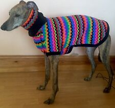 M/L Whippet Fleece Coat With Snood /whippet House Coat/sweatshirt