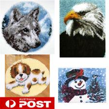 DIY Latch Hook Kits Needlecrafts Gifts 20'' Rug Animals Carpet 4 models Cute AU