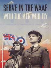 WAR PROPAGANDA WW2 ENLIST WAAF RAF WOMEN MILITARY UK VINTAGE ADVERT PRINT 2736PY