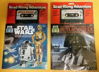 1979 & 1983: STAR WARS READ ALONG BOOK & TAPE (UNOPENED/SEALED) cassettes ROTJ