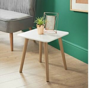 Malmo White Square Side Table A Elegant Addition To Your Home W40 x D40 x H40cm