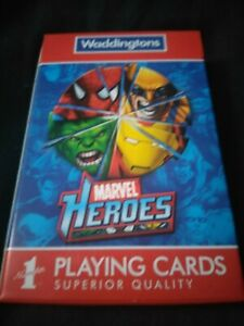 Waddingtons Marvel Heroes Number 1 Playing Cards Superior Quality 2010