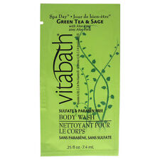Green Tea & Sage Body Wash by Vitabath for Unisex - 0.25 oz Body Wash