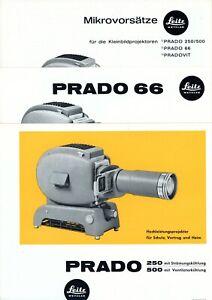 LEITZ Prospekt PRADO 66 / 250 / 500 Mikrovorsätze Broschüre Pradovit (Y2225