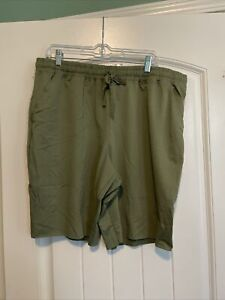 Lularoe XL Solid Olive Green New Jamie French Terry Bermuda Shorts