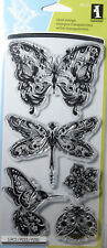 INKADINKADO MINDSCAPES Butterflies Clear Stamps Cardmaking Scrapbooking Craft