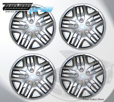 """15"""" Inch Snap On Silver Hubcap Wheel Cover Rim Covers 4pc, 15 Inches #025"""