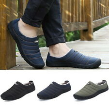 Mens Boots Fur Lined Slippers Snow Winter Warm Outdoor Indoor Shoes HC