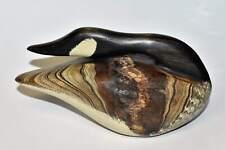 North Carolina Artist Chris Boone Vintage 2014 Canada Goose Wood Carved Signed