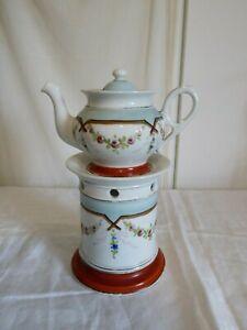 Ancienne Tisanière Veilleuse en porcelaine de Paris