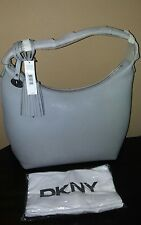 New Dkny Vintage style leather hobo shoulder bag Alloy gray $325 + tx
