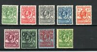 Falkland Islands 1929-37 Fin Whale and Gentoo Penguin values to 5s MLH