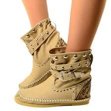 Damen Indianer Stiefel Ibiza Ankle Boots MADE IN ITALY Echtleder KIKKILINE Sandy